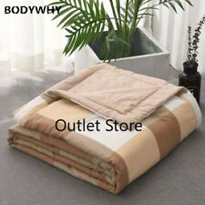Quilts Grid Comforter Air-conditioning Coverlet Sofa Throw Blankets Bedspread
