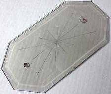 "Octagon beveled glass panel 2 hole star gray smoke chandelier lamp part 8""X4-1/4"