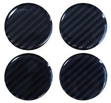 Aufkleber 3D Carbon Schwarz 910034 Nabenkappen Radnabendeckel 60 mm edel