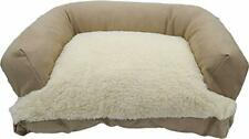 """Caddis Beasley's Couch Dog Bed PolySuede Tan Small 20"""" x 25"""""""