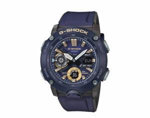 Casio G-Shock GA2000-2A Men's Analog-Digital Watch - Blue/Black