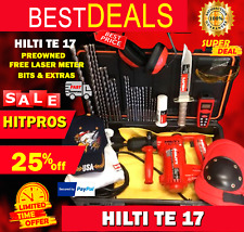 Hilti Te 17 Preowned Free Laser Meter Bits A Lot Of Extras Fast Ship