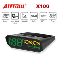 Autool X100 GPS HUD Digital Head-Up Display Overspeed Alarm Speedometer KMH/MPH
