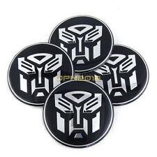 4x 65mm Transformer Autobot Car Auto Wheel Center Hub Caps Emblem Decals Sticker