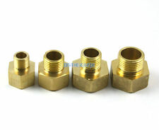 "10 Brass 1/2"" Female To 3/8"" Male BSP Reducing Pipe Fitting Hose Connector"