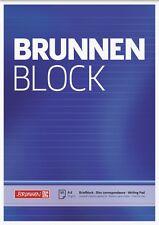 10 x Brunnen Briefblock Schreibblock Notizblock A4 liniert weiss 50 Blatt 70g