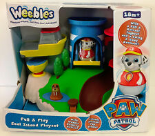 Weebles Paw Patrol Pull and Play Seal Island Playset - New Damaged Box - SALE