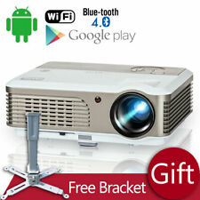 EUG LED WiFi Projector 1080p Android 6.0 Blue-tooth Bundle Big Ceiling Mount US