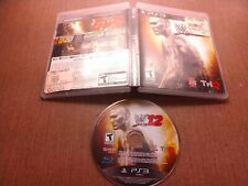 Sony PlayStation 3 PS3 Disc Case No Manual Tested WWE 12 Ships Fast