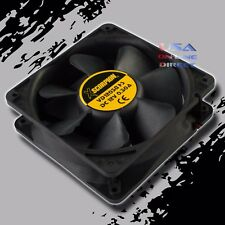 """High Output Square Rotary Cooling Fan 6"""" x 1.5"""" 12 Volt Marine Automotive Home"""