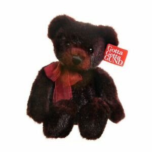 Gund Garnet Bear Burgundy and black fleck plush 18 inch retired and collectable