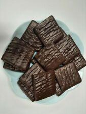 Asher's Dark Chocolate Graham Crackers 5# Box