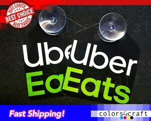 2x Two New UberEats  Removable Signs High Quality  Laminated SIGN Eats