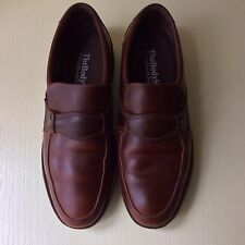 NICE Hush Puppies BODY SHOE Men's Leather Walking Slip On LOAFER 10W ANT BROWN