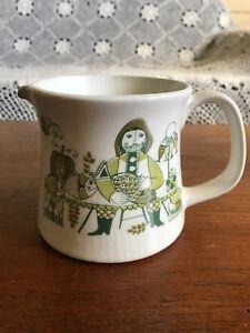 "Vintage Figgjo Norway ""Market"" Turi Design Large Gravy Sauce Milk Jug"