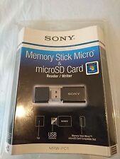 Genuine SONY Memory Stick Micro, microSD & microSDHC USB Card Reader MRW-FC1