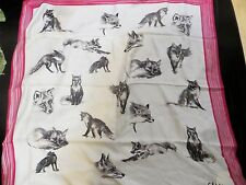 """NEW CELINE 100% SILK SCARF 35""""x35"""" MADE IN ITALY"""