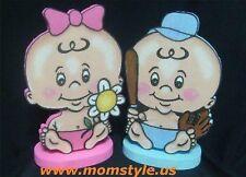 Baby twins birthday party centerpiece decoration