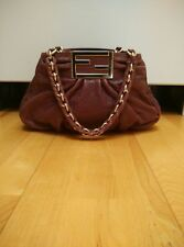 FENDI Bag Borsa Mia Agnello Pebbled Leather Purple Classic Bag Handbag