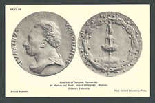 Ca 1910 PPC Bronze Medal Guarino Of Verona Humanist By Matteo de Pasti See Info