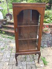 antique glazed display cabinet
