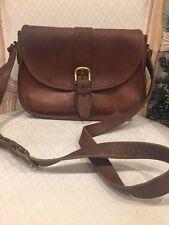 Coach Women's Brown Leather Vintage Crossbody Shoulder Buckle Purse 2125