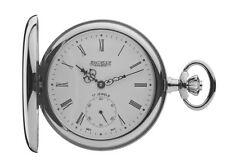 Jean Pierre Chrome Plated Hunter 17 Jewelled Lever Pocket Watch, ref G102CM
