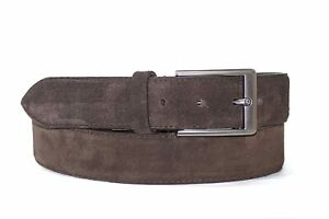 New Indian Men's Genuine Formal Suede Leather Belt In Multi Color 35 mm