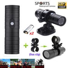 2 Battery HD Sports Camera 1080P Bike Helmet Action Cam Mini DV 170° W/ Gun Clip