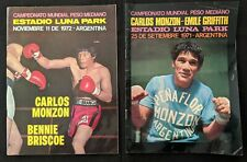 1971 & 1972 Carlos Monzon On-Site Fight Boxing Program (2pcs)