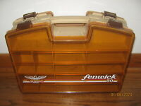 FENWICK 30 FISHING LURE TACKLE BOX DOUBLE SIDED