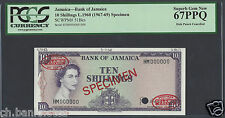 Jamaica 10 Shillings L.1960 (1967-69) P51Bes Uncirculated