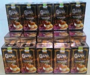 10 Boxes Gano Excel Cafe 3 in 1 Coffee Ganoderma Reishi Halal FREE DHL EXPRESS