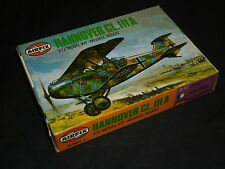 A Vintage  AIRFIX un made plastic kit of a HANNOVER CL.IIIA, boxed