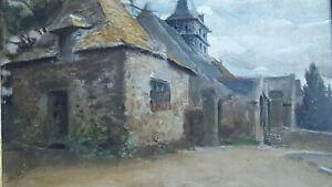 GILBERT Arthur (1819-1895) French painter. Oil on table