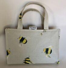 Book bag,A5 Diary Bag,A5 Diary Cover,A5 Book Bag,taupe Bees Oilcloth