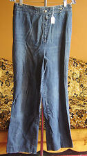 sz 12 29x30 True Vtg 70s Womens BOOTCUT DISCO DISTRESS INDIGO DENIM JEANS
