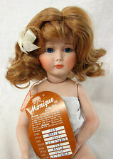 """Monique Doll Wig """"Kayla"""" Size 10-11 Lt Stw Blonde - Short Curly Style w/ Bow"""