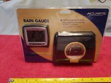 Acu-Rite Wireless Weather Rain Gauge 00896W New