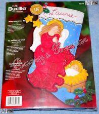 Bucilla WATCHING OVER ME STOCKING Angel,Baby Felt Applique Christmas Kit - 85175