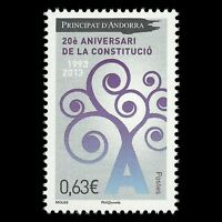 Andorra 2013 - 20th Anniversary of the Constitution Art - MNH