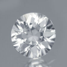 $9.99 1PC Round 5MM. Diamond Cut AAA Natural Gemstone White Zircon