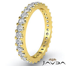 Classic Diamond Prong Eternity Womens Wedding Band 14k Yellow Gold Ring 1.25Ct