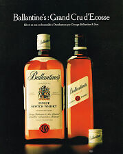 PUBLICITE ADVERTISING   1982   BALLANTINE'S   grand cru d'Ecosse  whisky