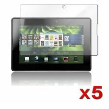 5pcs 5x Clear Screen Protector Guard w/ Cleaning Cloth for Blackberry Playbook