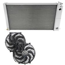 El Camino Radiator for LS Conversion,Champion 3 Row DUAL-PASS, Fans & Relay Kit