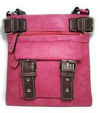 Dasein Women Handbag Faux Leather Messenger Crossbody Shoulder Bag Purse
