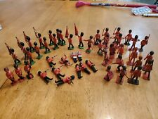 Toy Soldiers Crescent and Britains Ltd. Foot, Band, Scottish 47 piece Lot