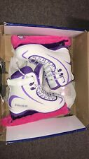 Pre-Owned - Riedell Ice Skates Soar 625 Purple/White Size 7