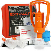 NIB Venom Extractor Pump First Aid Safety Tool Kit Emergency Snake Bite LIVABIT